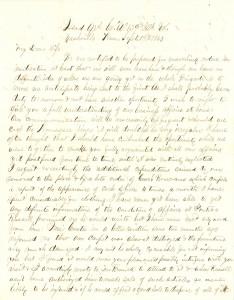 Joseph Culver Letter, September 19, 1863, Page 1