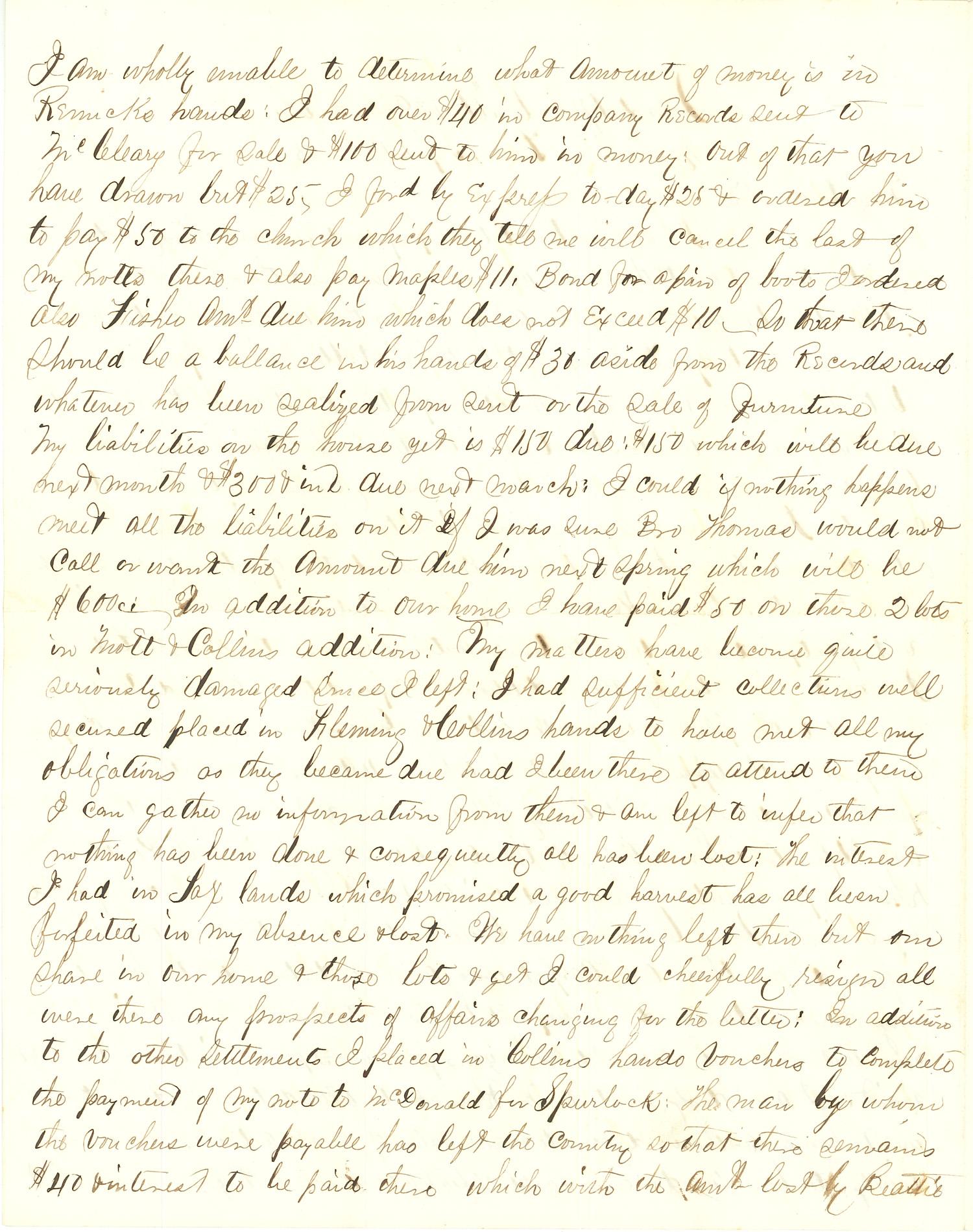 Joseph Culver Letter, September 19, 1863, Page 2