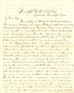 Joseph Culver Letter, September 3, 1863, Page 1