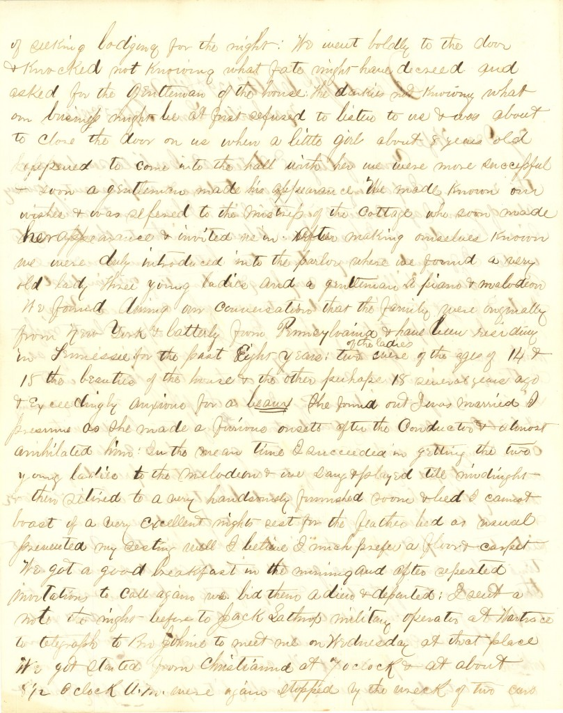 Joseph Culver Letter, September 3, 1863, Page 2