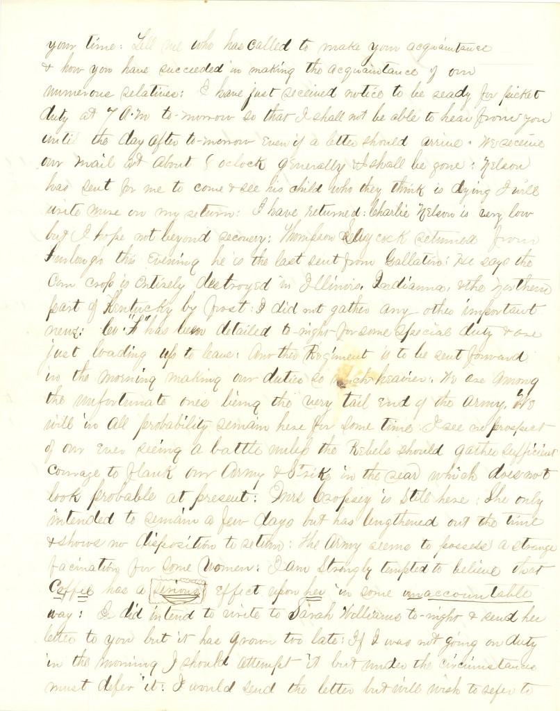 Joseph Culver Letter, September 7, 1863, Letter 3, Page 2