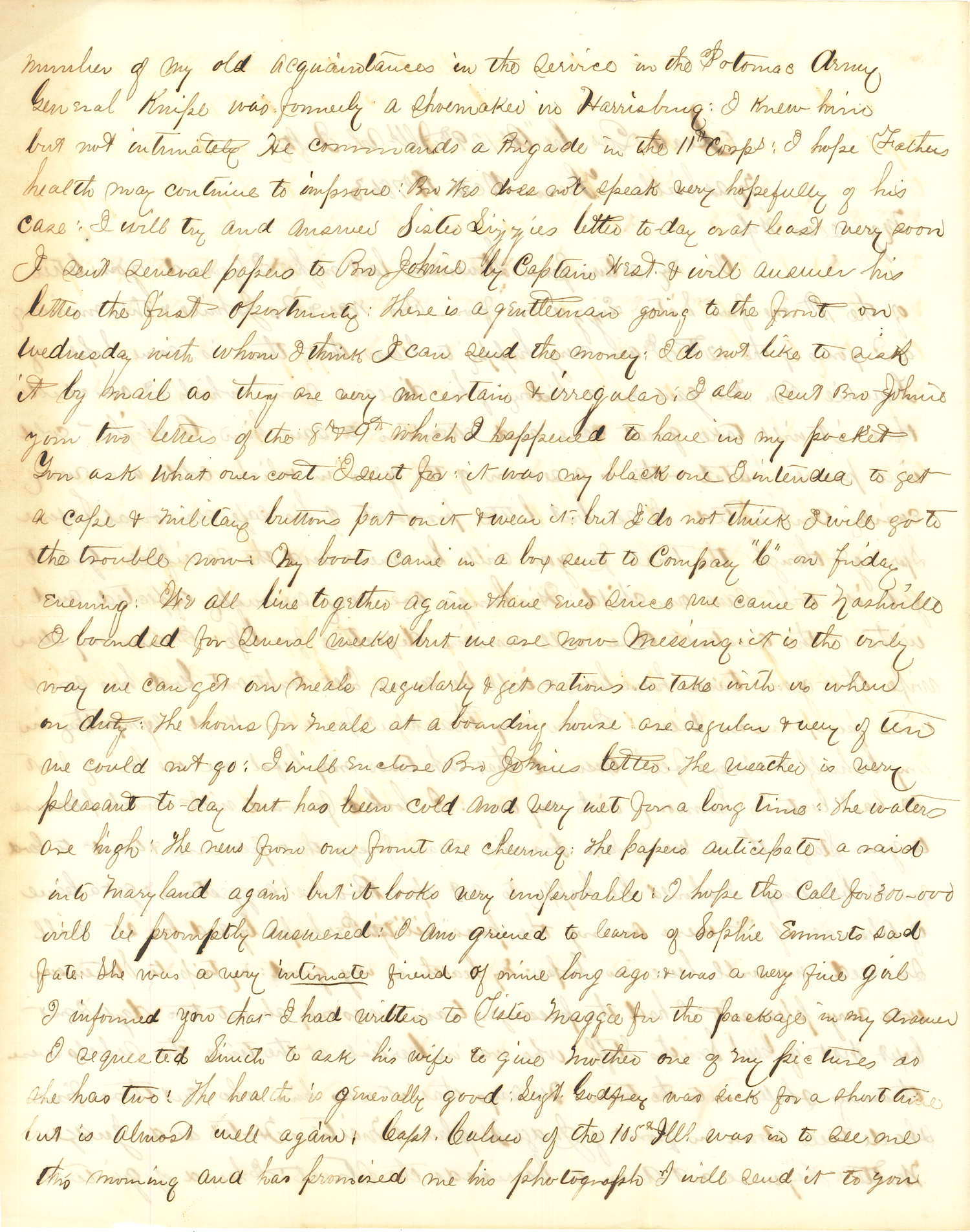 Joseph Culver Letter, October 19, 1863, Page 2
