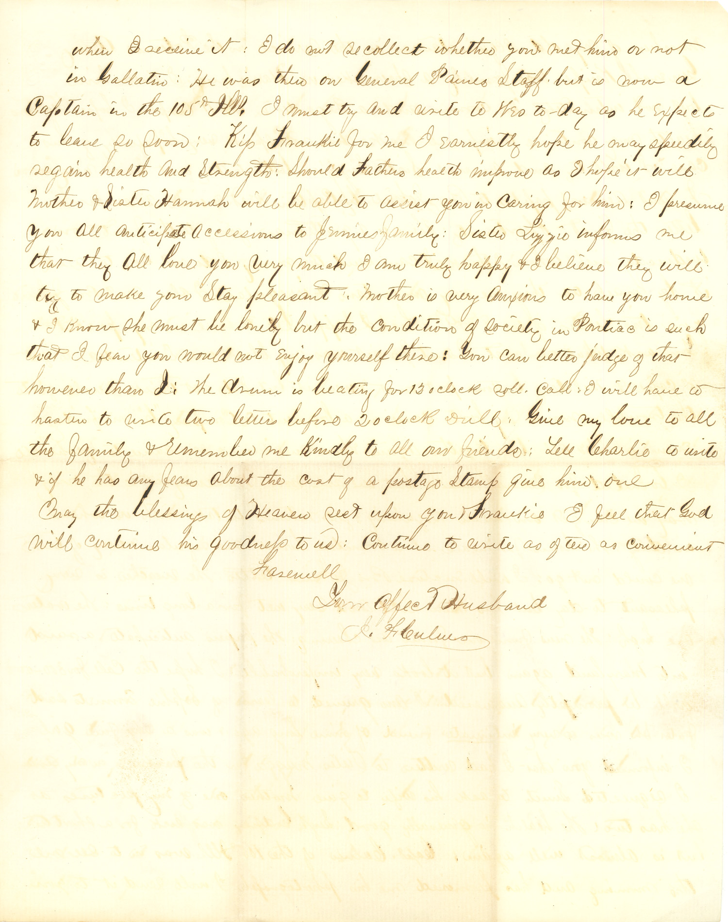 Joseph Culver Letter, October 19, 1863, Page 3