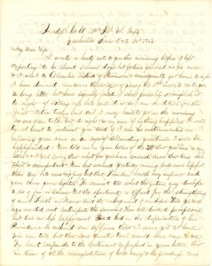 Joseph Culver Letter, October 28, 1863, Letter 2, Page 1
