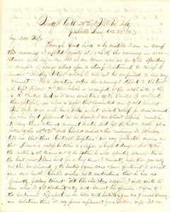 Joseph Culver Letter, October 29, 1863, Page 1