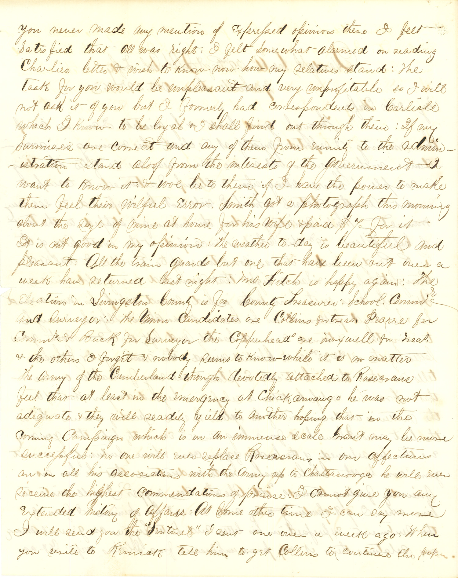 Joseph Culver Letter, October 29, 1863, Page 2