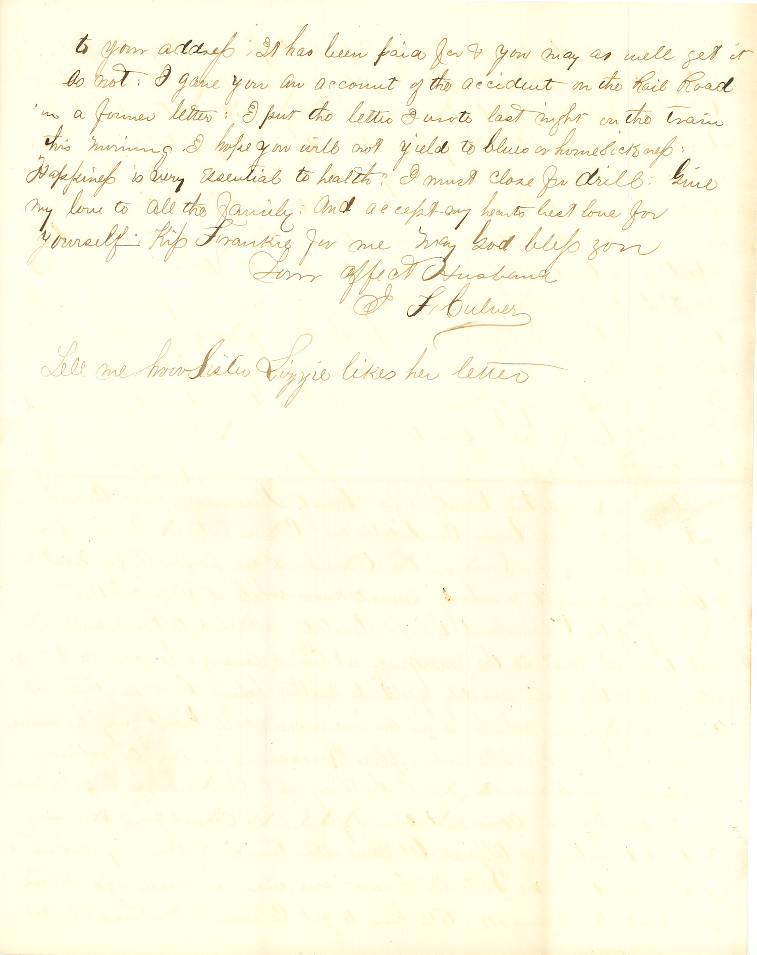 Joseph Culver Letter, October 29, 1863, Page 3