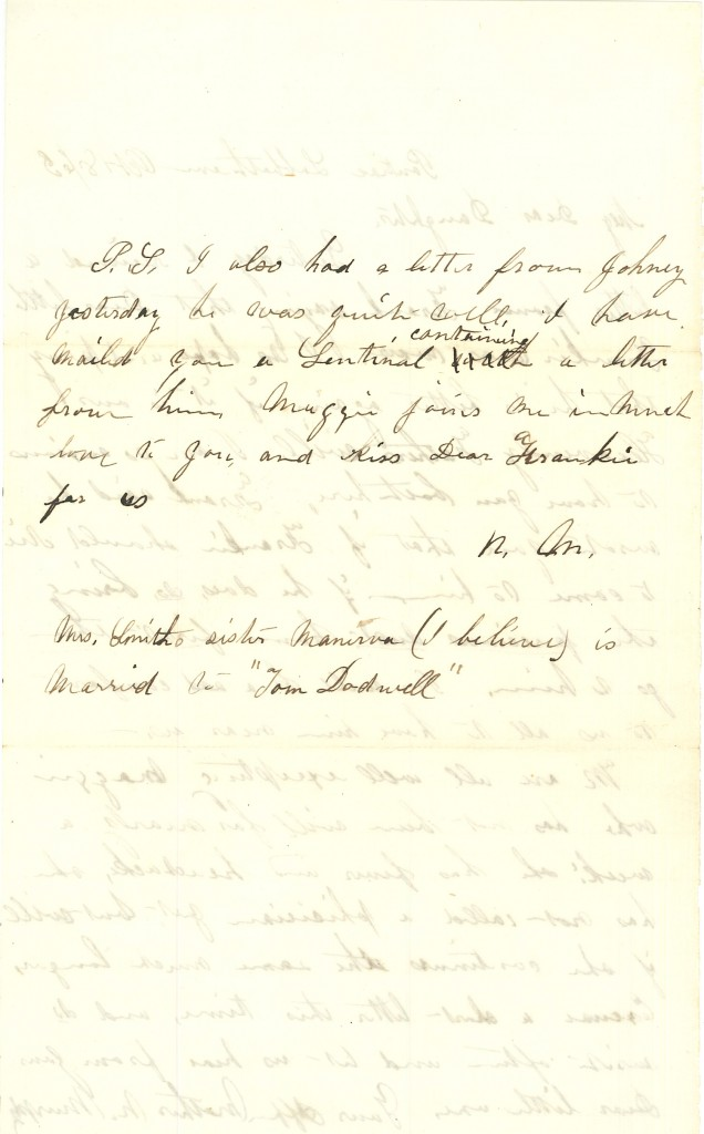 Joseph Culver Letter, October 8, 1863, Page 2