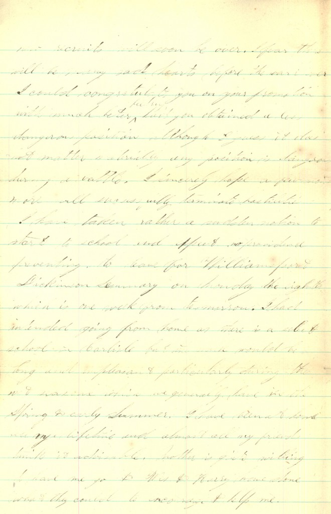 Joseph Culver Letter, January 31, 1864, Page 2