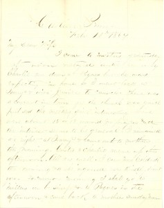 Joseph Culver Letter, February 10, 1864, Letter 2, Page 1