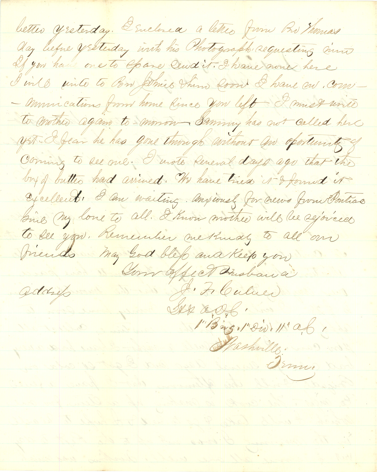 Joseph Culver Letter, February 9, 1864, Page 2