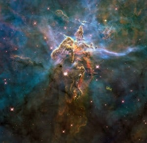 Mystic Mountain. Photo released for Hubble's 20th Anniversary.