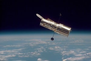 Hubble Space Telescope, taken on 2nd servicing mission. Photo credit: NASA