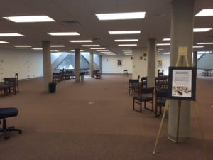 picture of library with furniture removed