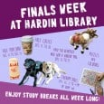 The Hardin Library will be open until Midnight on Friday, December 11 and Saturday, December 12.  Get ready for finals or take a break.             […]