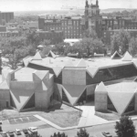 Hardin Library in 1974, just after opening