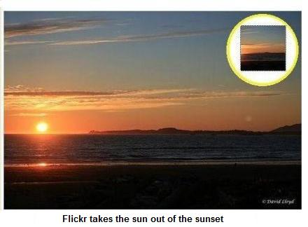 Flickr takes the sun out of the sunset