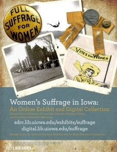 Women's Suffrage in Iowa poster