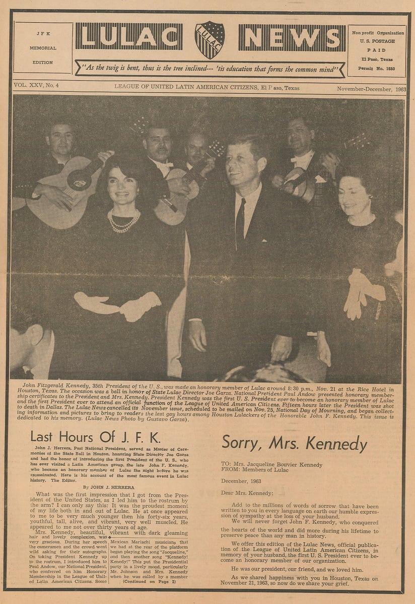 Lulac News Jfk Memorial Edition The University Of Iowa