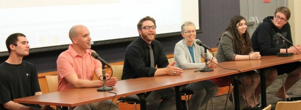 "Panel of speakers at the ""Archives Alive!"" event on May 7, 2014"