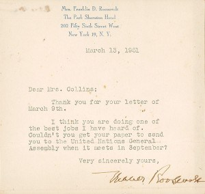roosevelt eleanor to wilma belden-collins