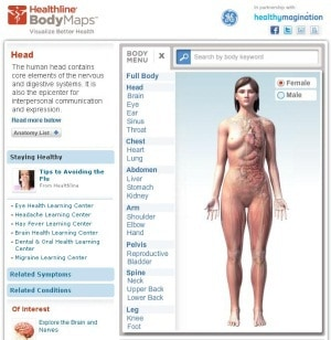 Screenshot of BodyMaps