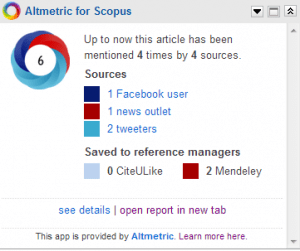 altmetric for scopus