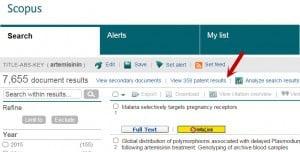 Patent searching in Scopus screenshot