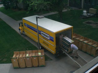 Unloading Truck at Biological Sciences