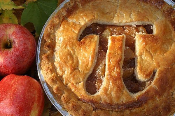 Pie with the symbol Pi