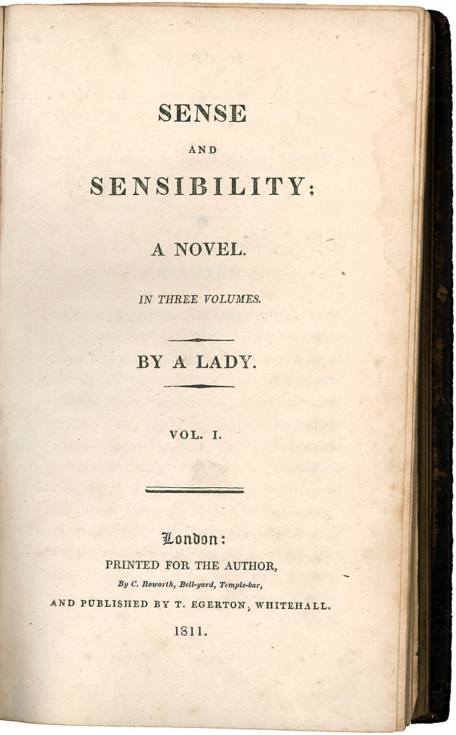 Sense and Sensibility title page