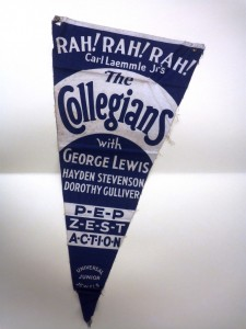 Fabric Banner for &quot;The Collegians&quot;