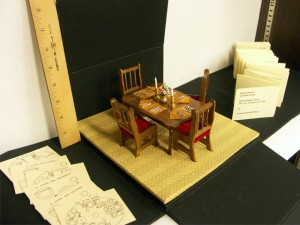 Miniature dining table set - University of Iowa Special Collections