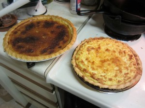second attempt - image of two pies