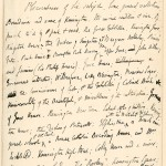 The first page of Hunt&#039;s manuscript for Old Court Suburb, containing notes about the work.