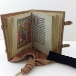 Facsimile of girdle book binding