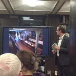 Image of John Fifield Presenting about the library at the Recoleta