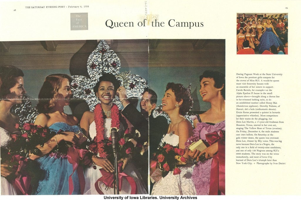 Image of Dora Lee Martin being crowned