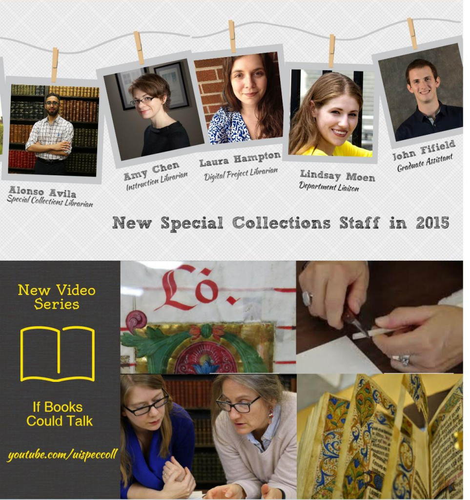 "New staff include Alonso Avila, Amy Chen, Laura Hampton, Lindsay Moen, and John Fifield. We have a new video series called, ""If Books Could Talk."""