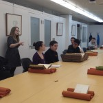 Students learning to look like a history detective