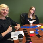 Heidi Wiren Bartlett and Colleen Theisen play History of the Book: The Game.