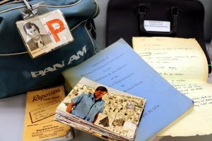 Pan Am bag, photo, and letters from Tom Brokaw's papers