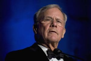Portrait photo of Tom Brokaw - public domain image