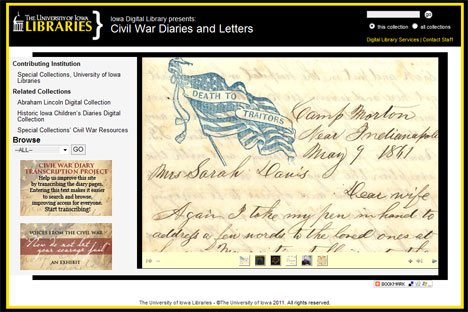 Civil War Diaries and Letters home page