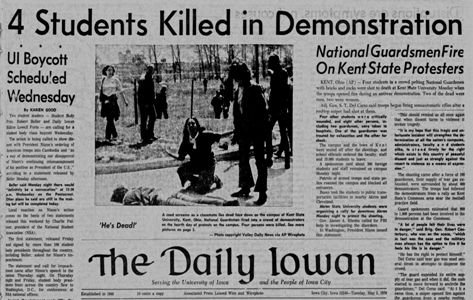 Daily Iowan front page May 5, 1970