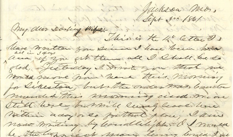James B. Weaver letter to wife, 1861 | Civil War Diaries and Letters