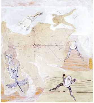 """Leap year,"" mixed media by Jill Erickson, 1987 