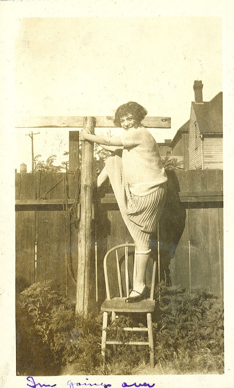 Fence climbing, The University of Iowa, 1920s | African American Women in Iowa