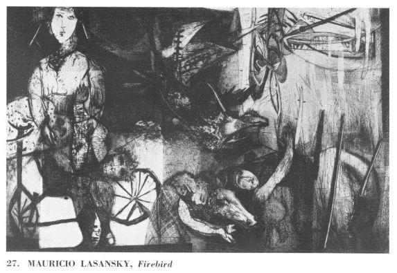 Firebird by Mauricio Lasansky (1955) | University of Iowa Art Festival Programs