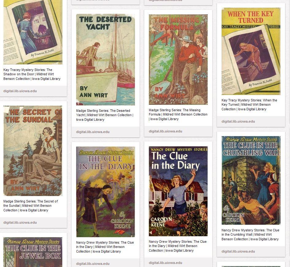 Pinterst - IDL: Mildred Wirt Benson cover gallery